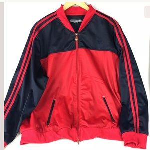 Oleg Cassini Sport Full Zip Red Track Jacket d11